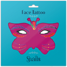 Face Tattoo-Brazil small size