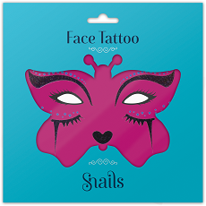 Face Tattoo-Midnight Cat small size