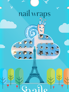 Nail Wrap-Blue Stars small size